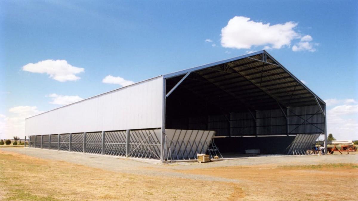 industrial construction of grain storage facilities